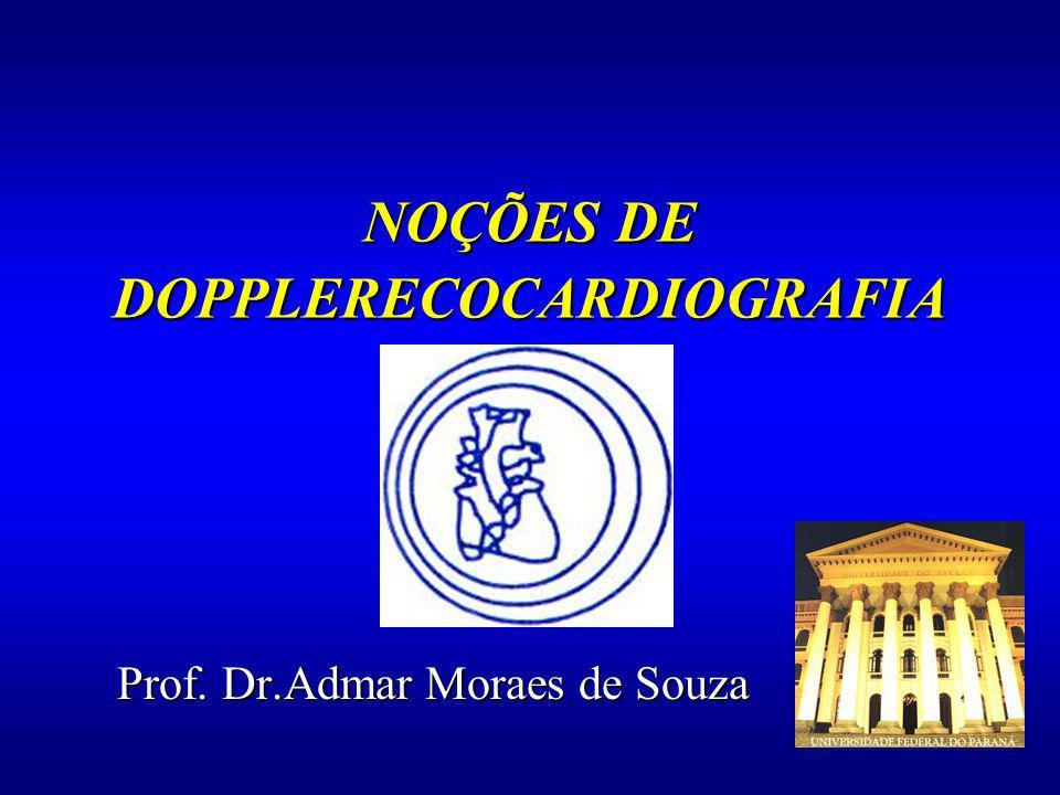 NOÇÕES DE DOPPLERECOCARDIOGRAFIA Prof. Dr.Admar Moraes de Souza