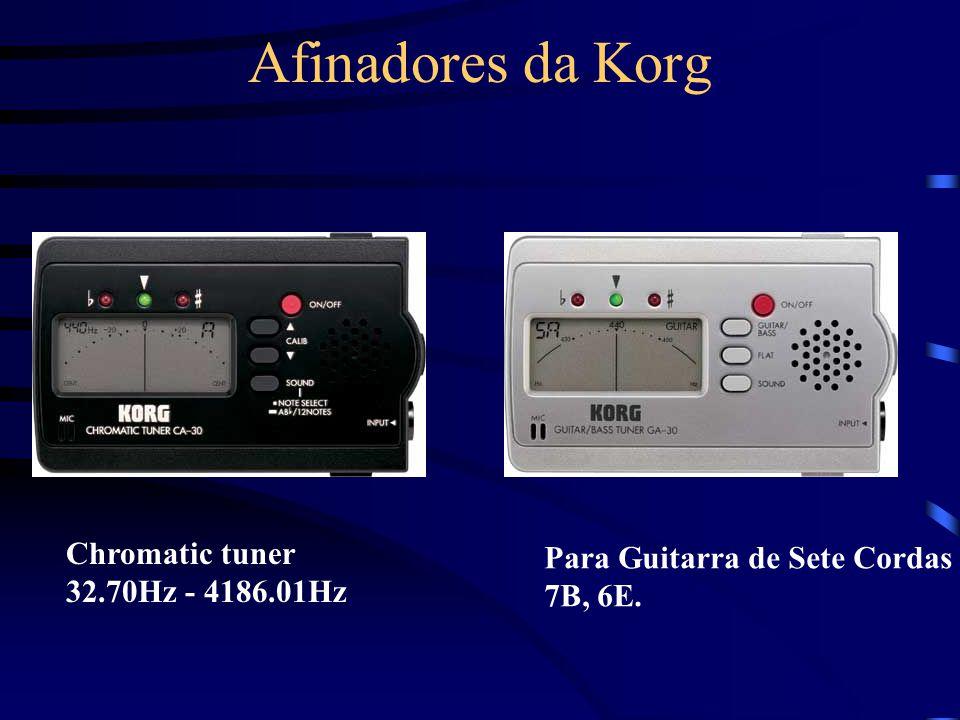 Afinadores da Korg Chromatic tuner 32.70Hz - 4186.01Hz Para Guitarra de Sete Cordas 7B, 6E.