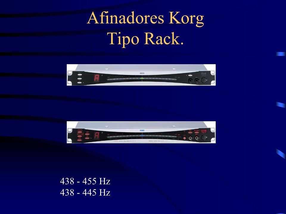 Afinadores Korg Tipo Rack. 438 - 455 Hz 438 - 445 Hz