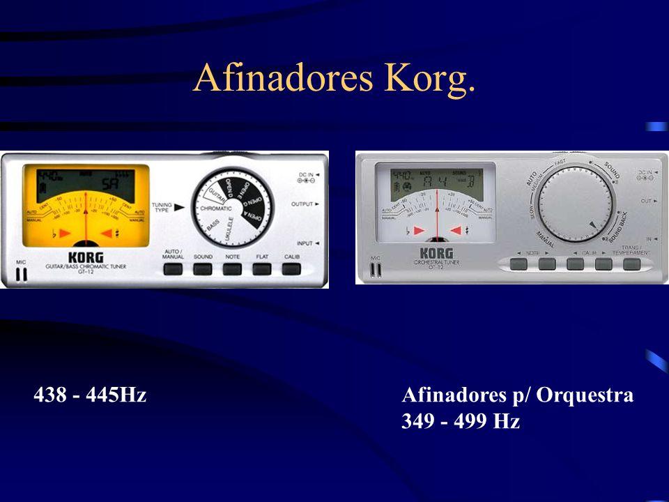 Afinadores Korg. 438 - 445HzAfinadores p/ Orquestra 349 - 499 Hz