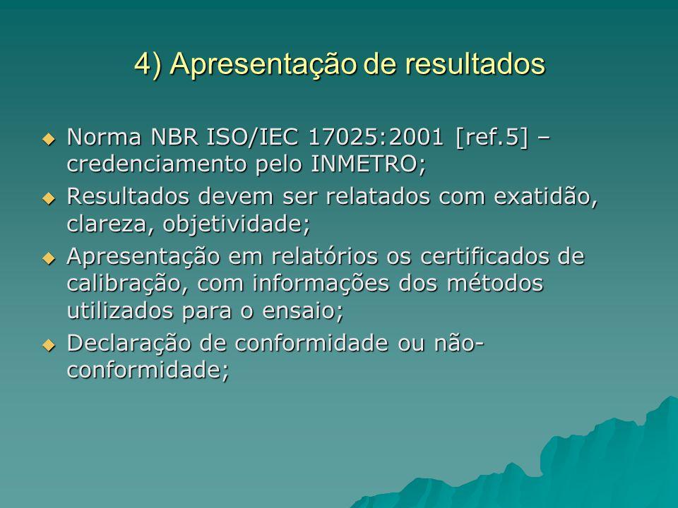 5) Registro de calibração