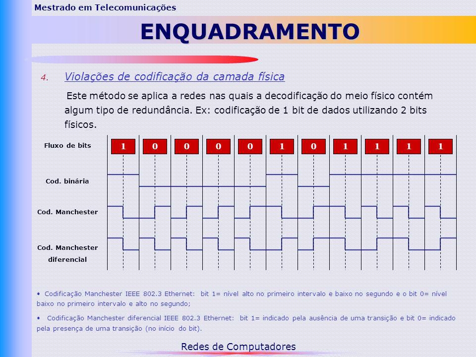 Redes de Computadores Mestrado em TelecomunicaçõesENQUADRAMENTO 4.