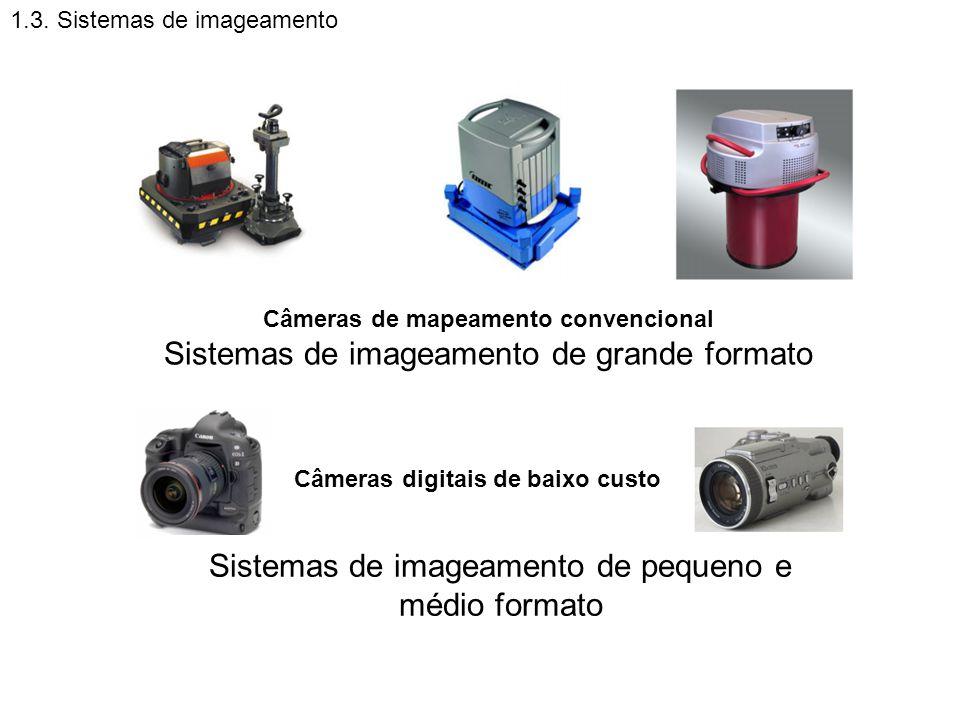 1.3. Sistemas de imageamento Câmeras de mapeamento convencional Sistemas de imageamento de grande formato Sistemas de imageamento de pequeno e médio f
