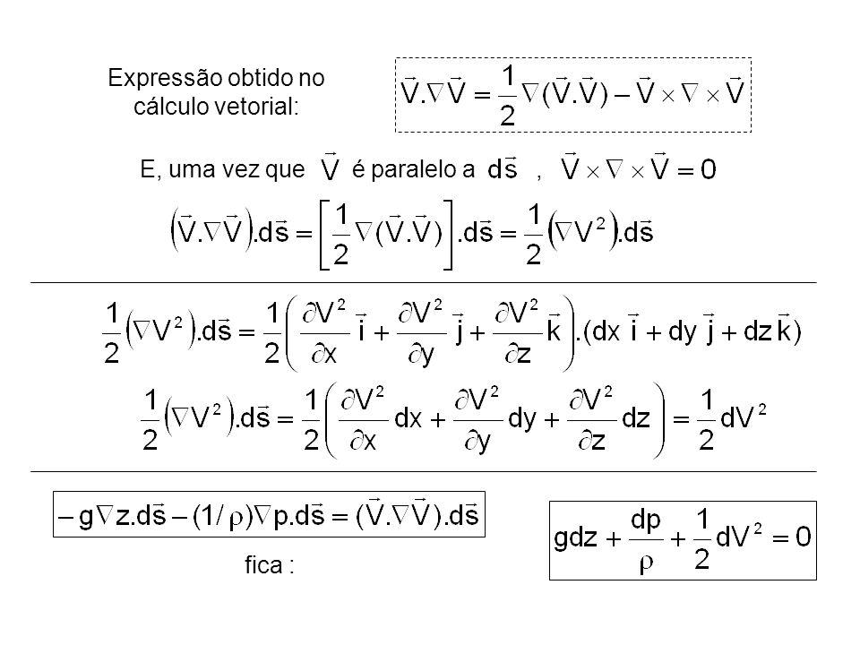 fica : Expressão obtido no cálculo vetorial: E, uma vez que é paralelo a,