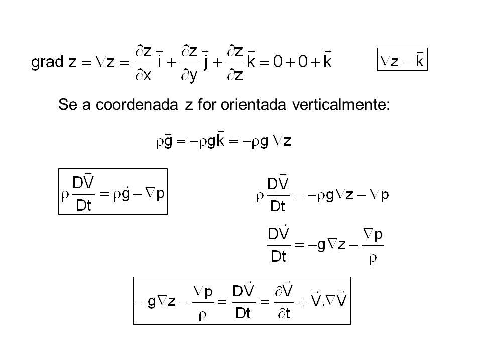 Em coordenadas cilíndricas, as três componentes da equação de Euler são: