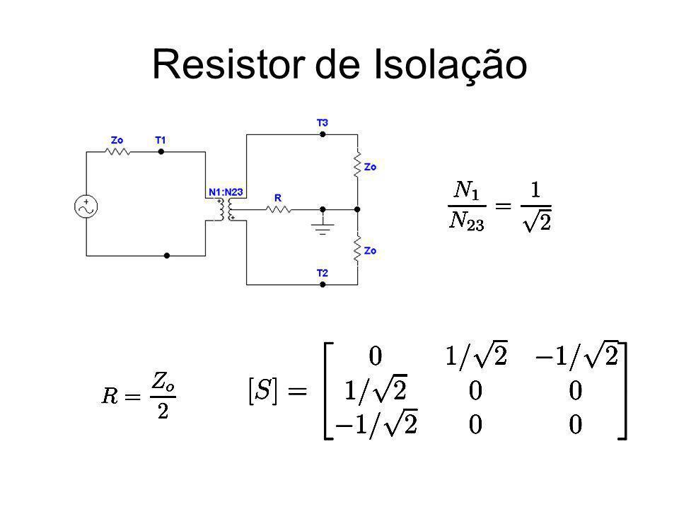 Híbrida Rat-Race Híbrida de 180°: C = 3 dB