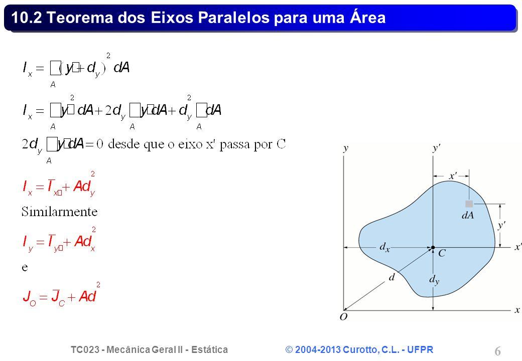 TC023 - Mecânica Geral II - Estática © 2004-2013 Curotto, C.L. - UFPR 6 10.2 Teorema dos Eixos Paralelos para uma Área