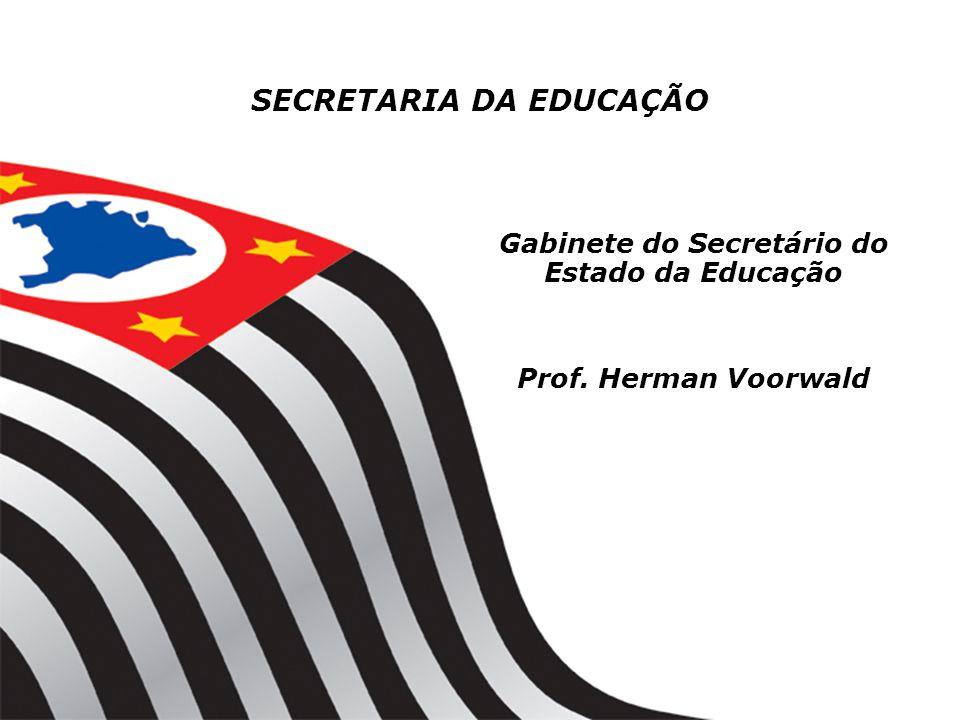 Gabinete do Secretário do Estado da Educação Prof. Herman Voorwald SECRETARIA DA EDUCAÇÃO