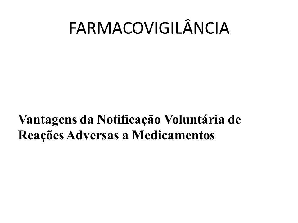 Vantagens da Notificação Voluntária de Reações Adversas a Medicamentos