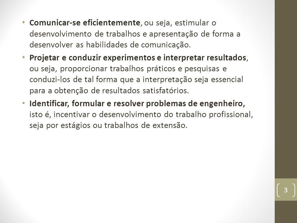 Comunicar-se eficientemente, ou seja, estimular o desenvolvimento de trabalhos e apresentação de forma a desenvolver as habilidades de comunicação.