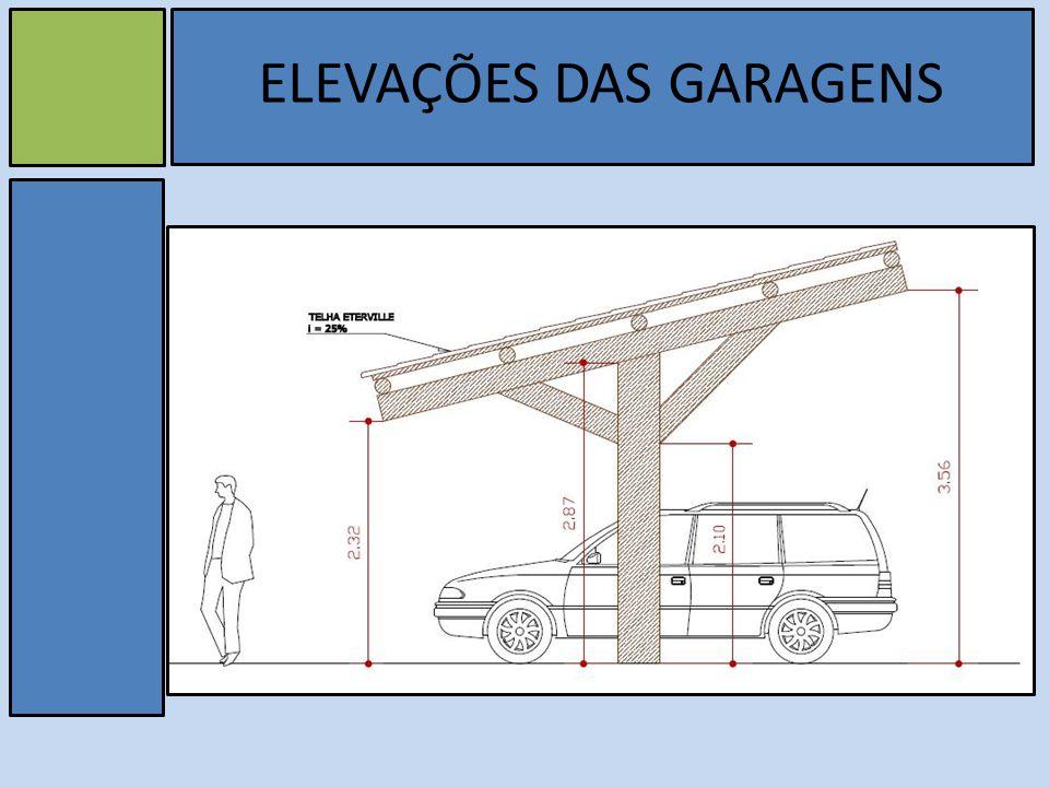 v ELEVAÇÕES DAS GARAGENS