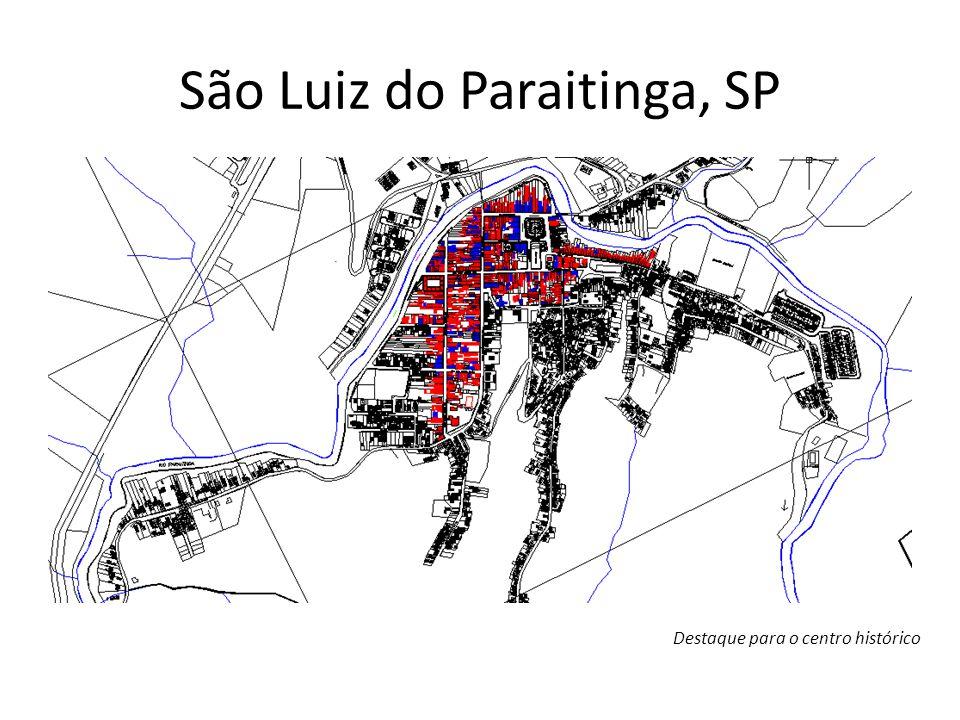 Mapa Centro Histórico - Número de Pavimentos