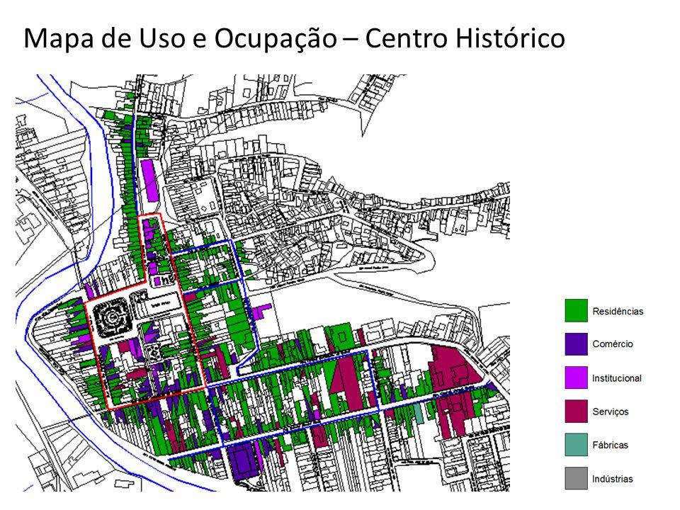 Taxa de Ocupação e Coeficiente de Aproveitamento Localização de uma das quadras analisadas