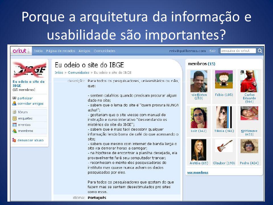 Porque a arquitetura da informação e usabilidade são importantes?