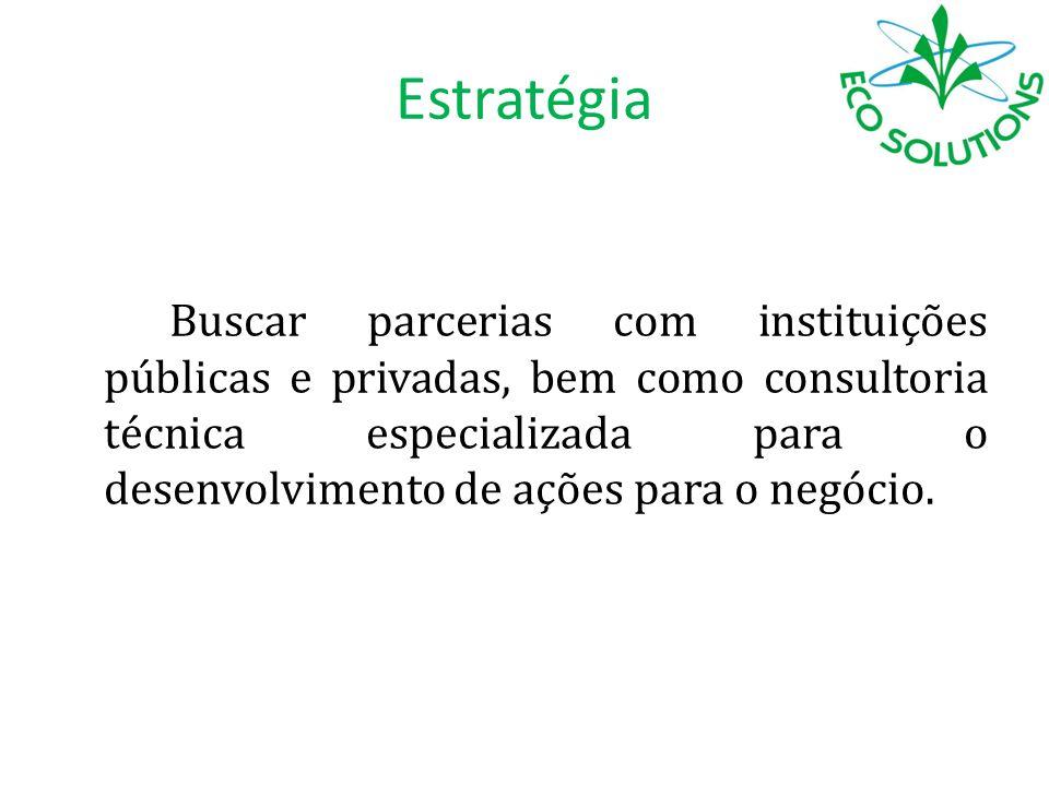 Estratégia Buscar parcerias com instituições públicas e privadas, bem como consultoria técnica especializada para o desenvolvimento de ações para o ne