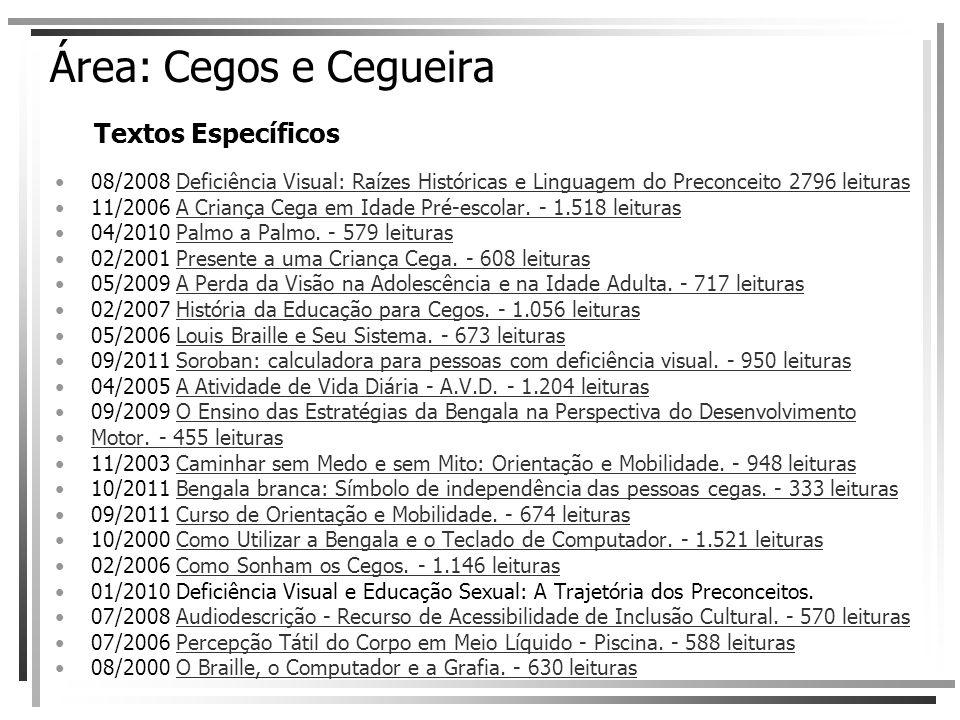 Área: Cegos e Cegueira Textos Específicos 08/2008 Deficiência Visual: Raízes Históricas e Linguagem do Preconceito 2796 leiturasDeficiência Visual: Ra