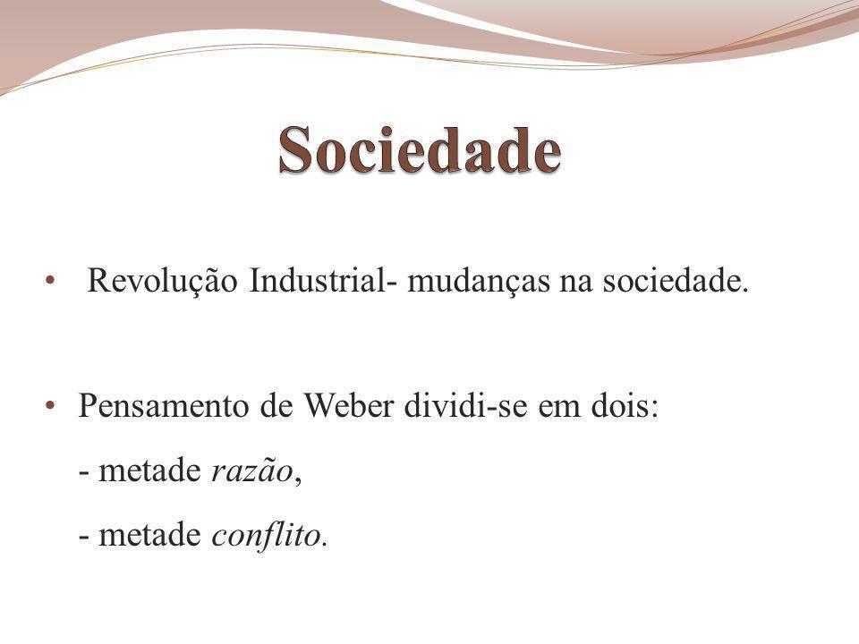 Revolução Industrial- mudanças na sociedade.