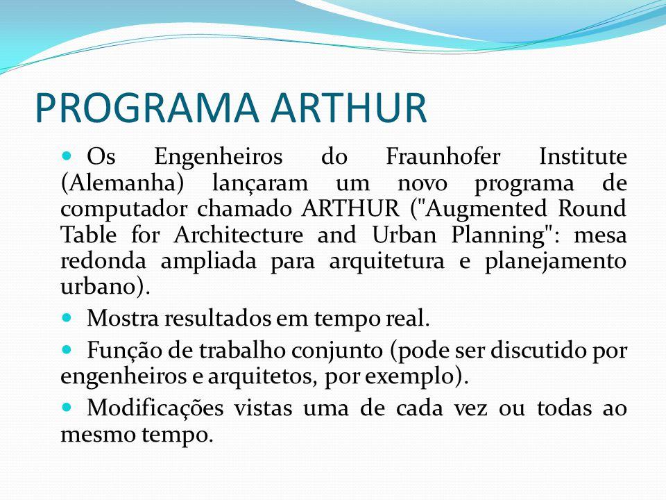 PROGRAMA ARTHUR Os Engenheiros do Fraunhofer Institute (Alemanha) lançaram um novo programa de computador chamado ARTHUR (