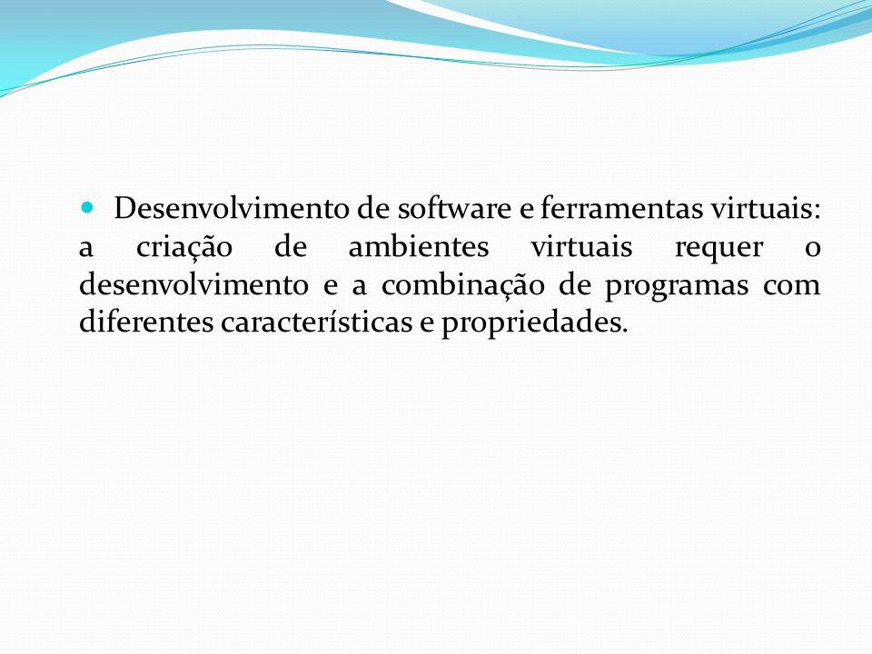 Desenvolvimento de software e ferramentas virtuais: a criação de ambientes virtuais requer o desenvolvimento e a combinação de programas com diferente