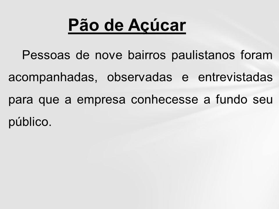 Pessoas de nove bairros paulistanos foram acompanhadas, observadas e entrevistadas para que a empresa conhecesse a fundo seu público. Pão de Açúcar