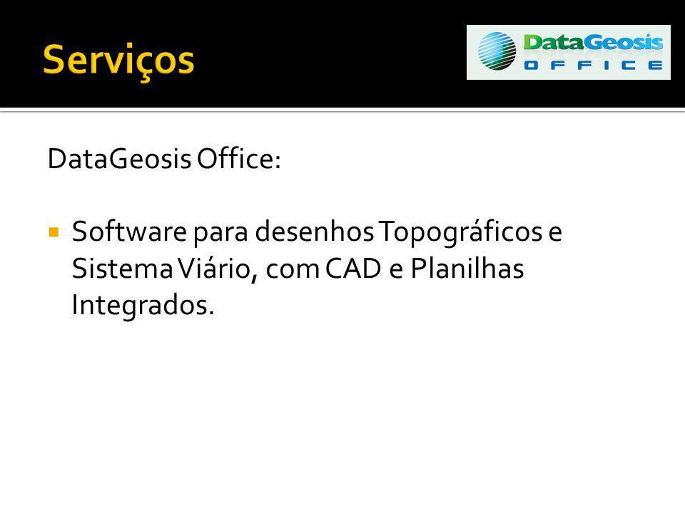 DataGeosis Office: Software para desenhos Topográficos e Sistema Viário, com CAD e Planilhas Integrados.