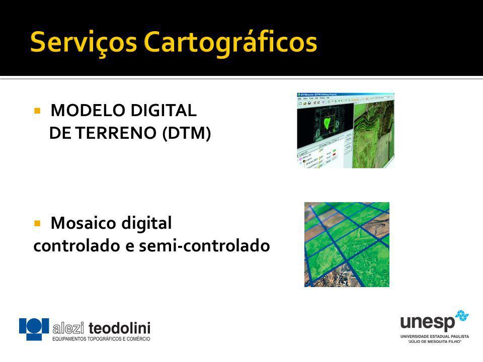 MODELO DIGITAL DE TERRENO (DTM) Mosaico digital controlado e semi-controlado