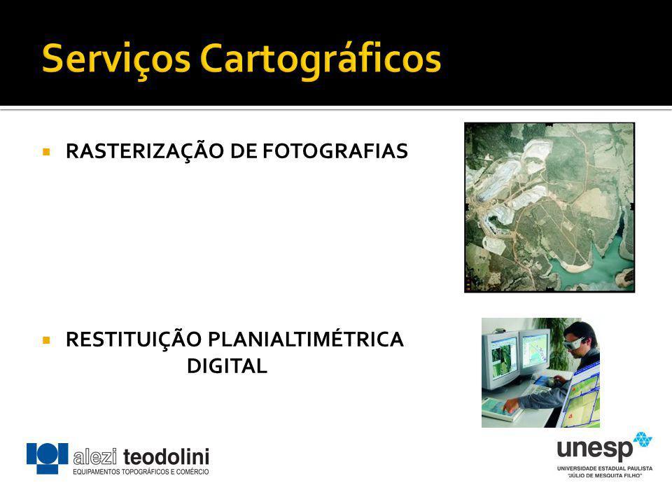 RASTERIZAÇÃO DE FOTOGRAFIAS RESTITUIÇÃO PLANIALTIMÉTRICA DIGITAL