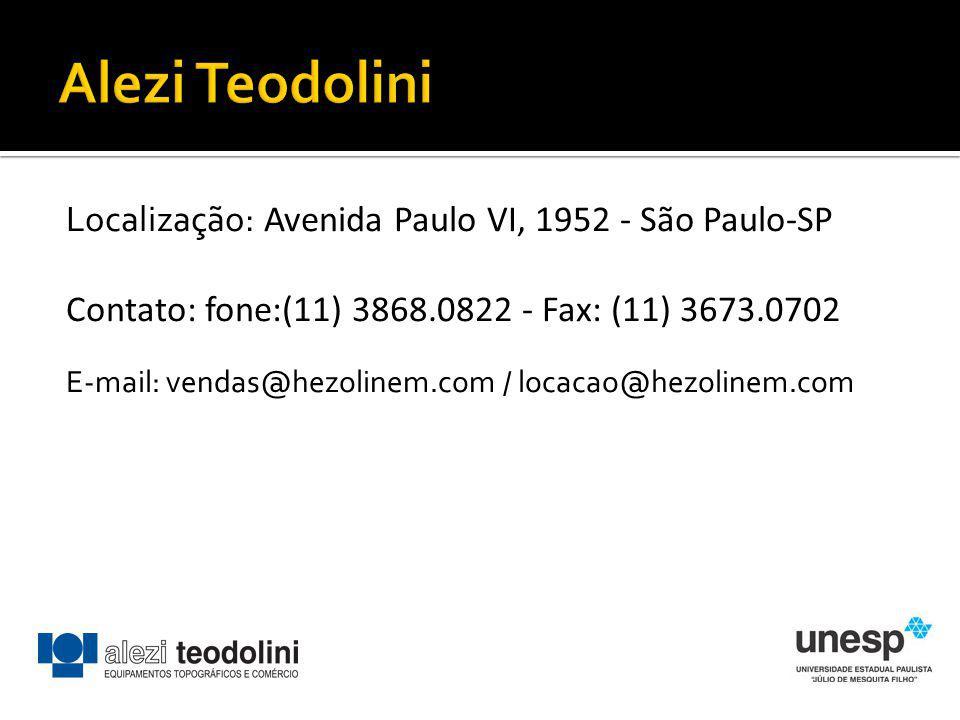 Localização: Avenida Paulo VI, 1952 - São Paulo-SP Contato: fone:(11) 3868.0822 - Fax: (11) 3673.0702 E-mail: vendas@hezolinem.com / locacao@hezolinem