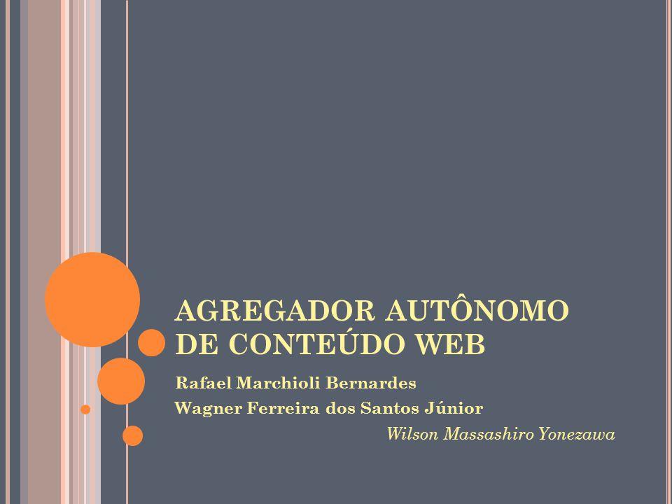 AGREGADOR AUTÔNOMO DE CONTEÚDO WEB Rafael Marchioli Bernardes Wagner Ferreira dos Santos Júnior Wilson Massashiro Yonezawa