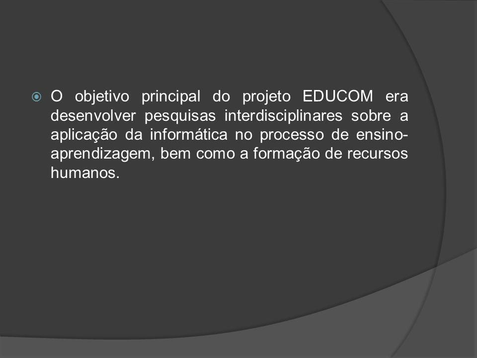 A princípio, o objetivo era formar equipes de professores multiplicadores em cada escola participante do Projeto Ensino On Line.