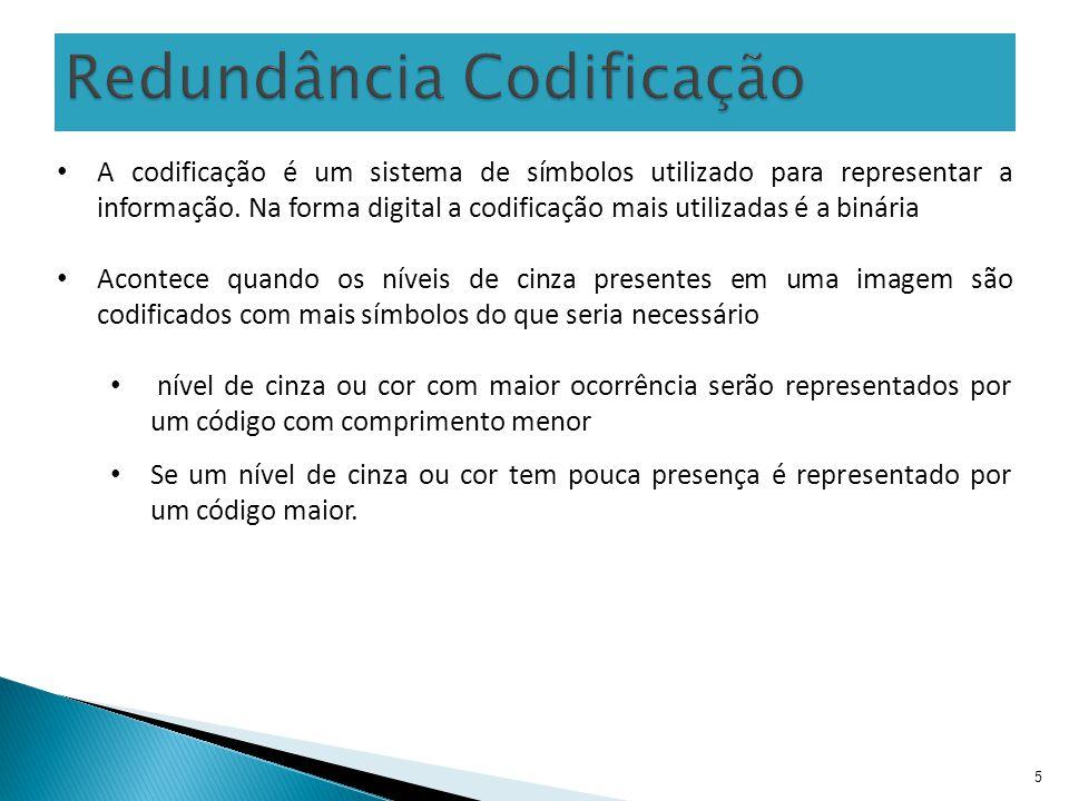 5 A codificação é um sistema de símbolos utilizado para representar a informação. Na forma digital a codificação mais utilizadas é a binária Acontece