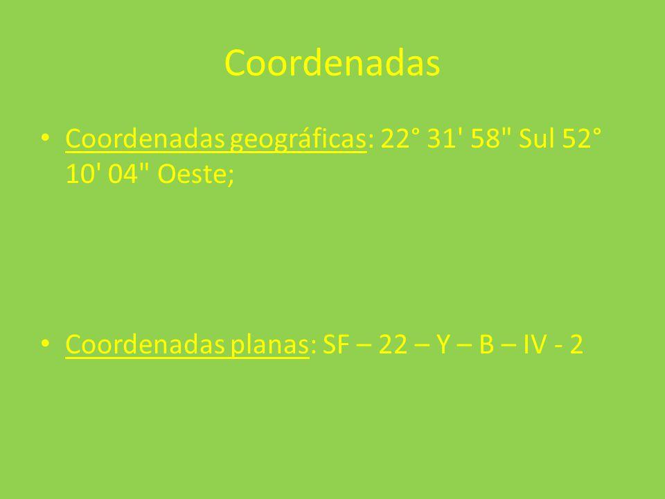 Coordenadas Coordenadas geográficas: 22° 31' 58