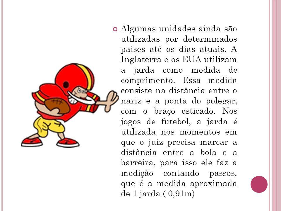 Enquanto o Brasil utiliza como medida de comprimento padrão o metro, os Estados Unidos utiliza a milha.