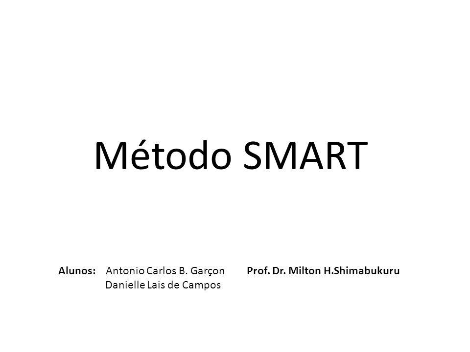 Método SMART Alunos: Antonio Carlos B.Garçon Danielle Lais de Campos Prof.