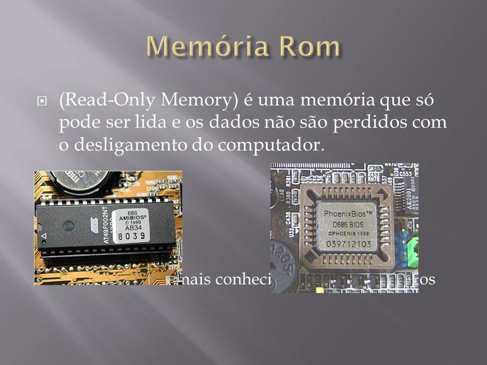 (Read-Only Memory) é uma memória que só pode ser lida e os dados não são perdidos com o desligamento do computador.