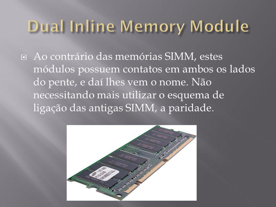 Transmite teoricamente o dobro de informações em comparação as memórias anteriores.