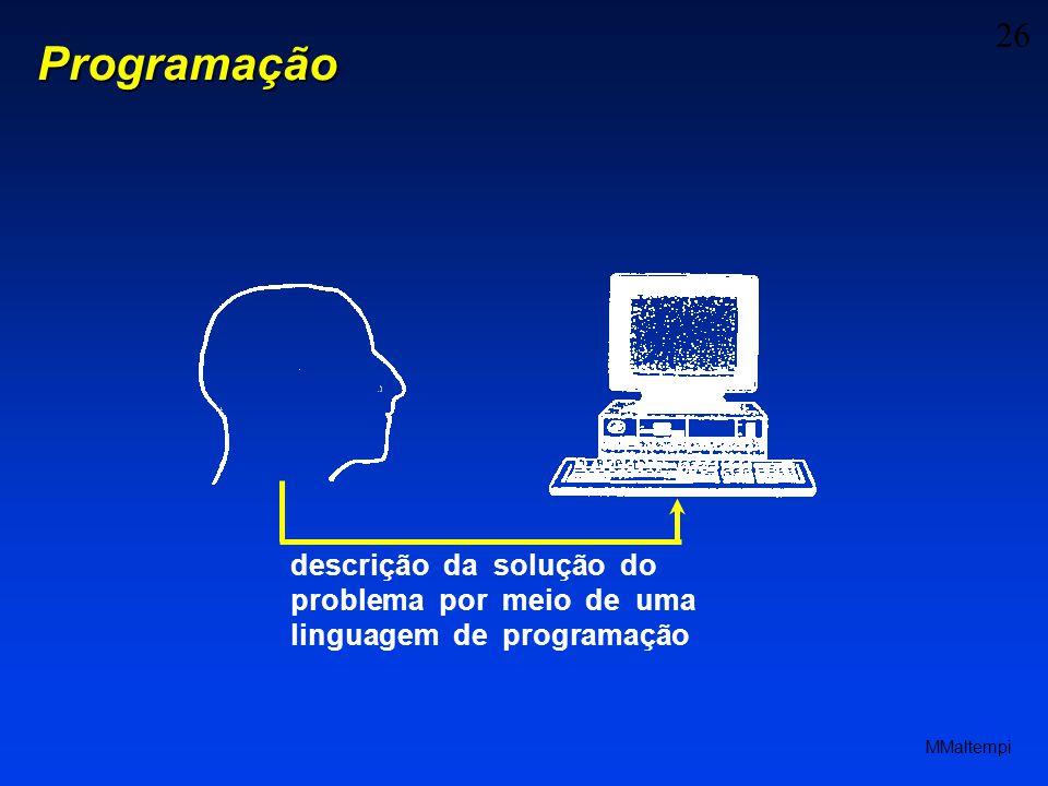 26 MMaltempi Programação descrição da solução do problema por meio de uma linguagem de programação