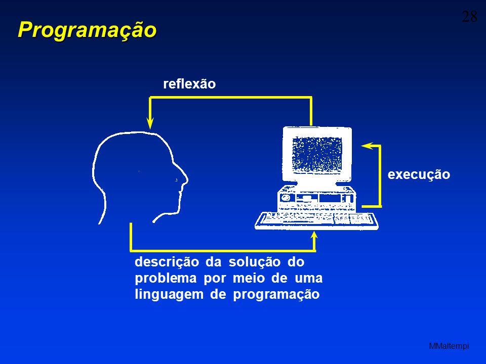 28 MMaltempi descrição da solução do problema por meio de uma linguagem de programação execução reflexãoProgramação