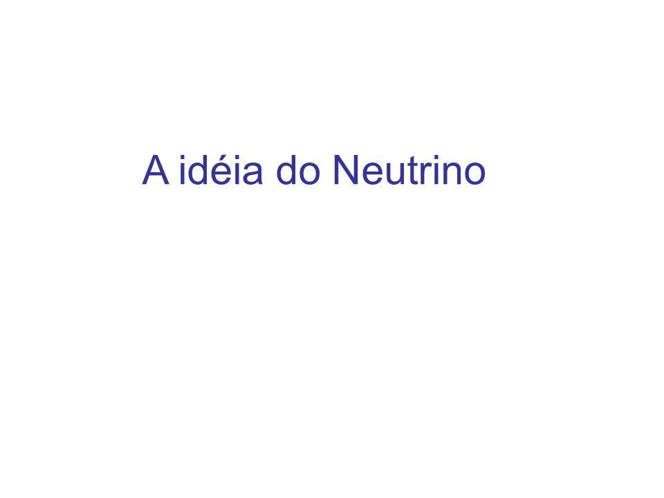 A idéia do Neutrino