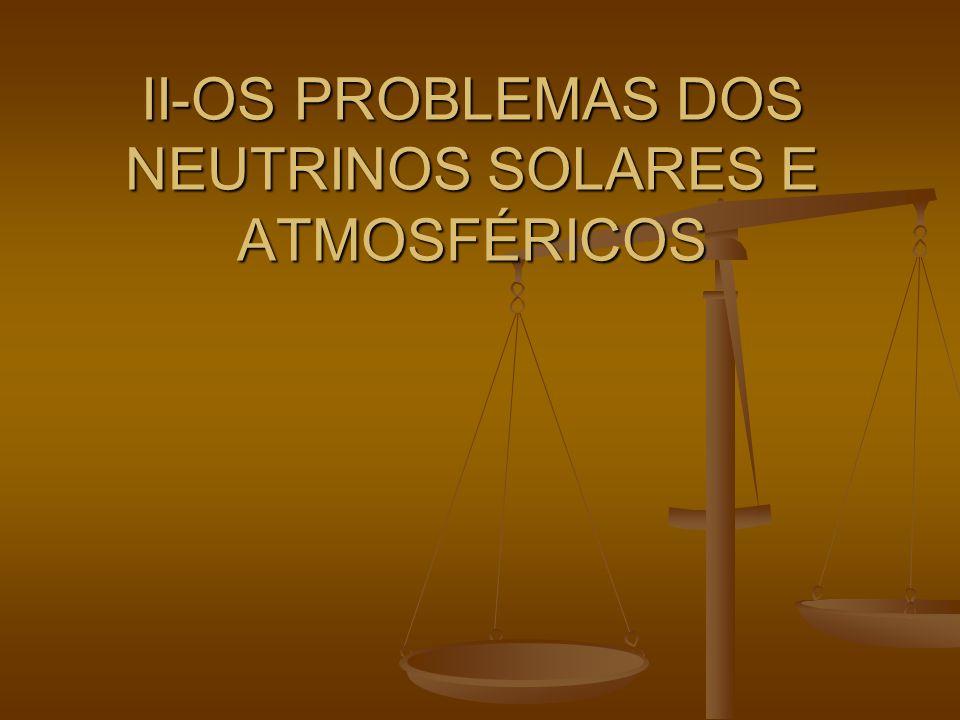 II-OS PROBLEMAS DOS NEUTRINOS SOLARES E ATMOSFÉRICOS