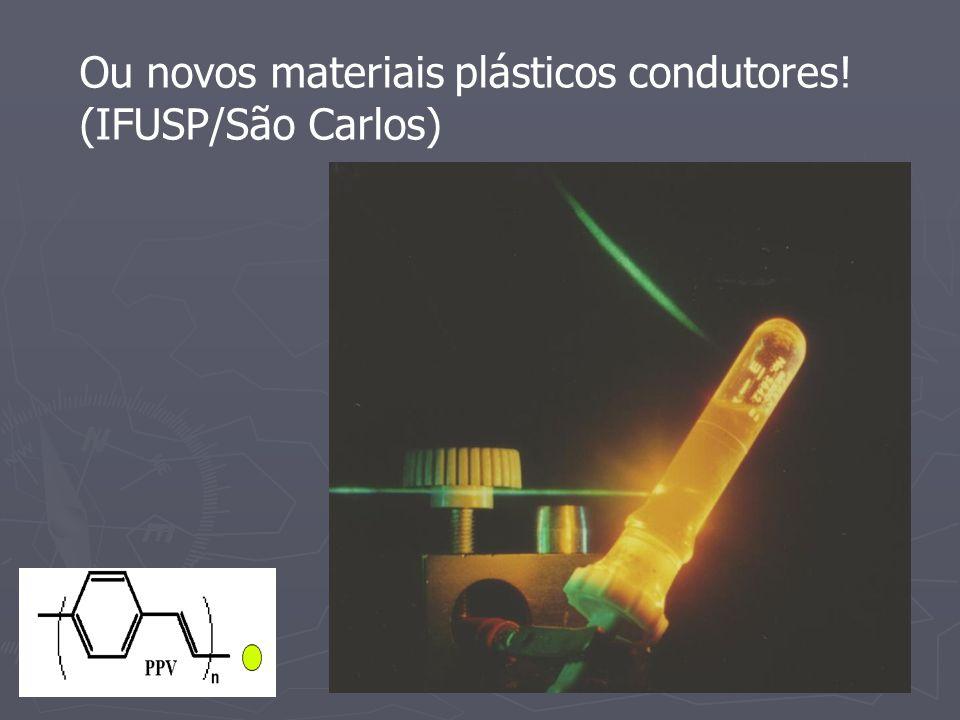 Ou novos materiais plásticos condutores! (IFUSP/São Carlos)