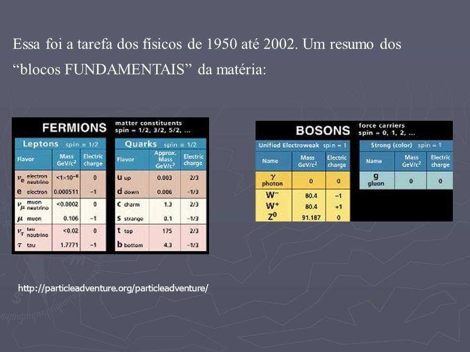 Essa foi a tarefa dos físicos de 1950 até 2002. Um resumo dos blocos FUNDAMENTAIS da matéria: http://particleadventure.org/particleadventure/