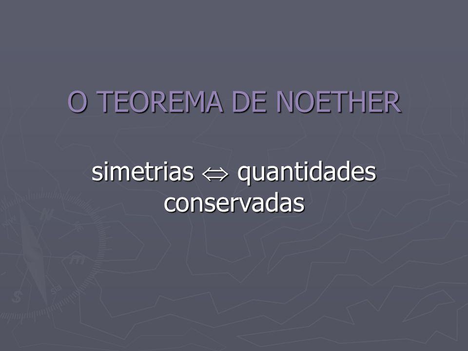 O TEOREMA DE NOETHER simetrias quantidades conservadas