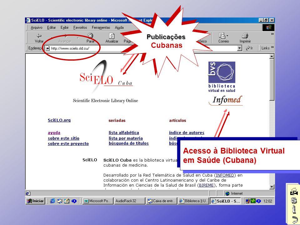 Publicações CubanasPublicações Acesso à Biblioteca Virtual em Saúde (Cubana)