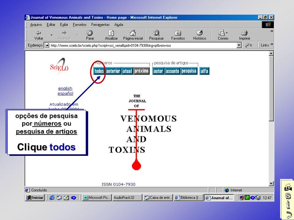 Relação de números disponíveis deste título Clique em 2 de 1999