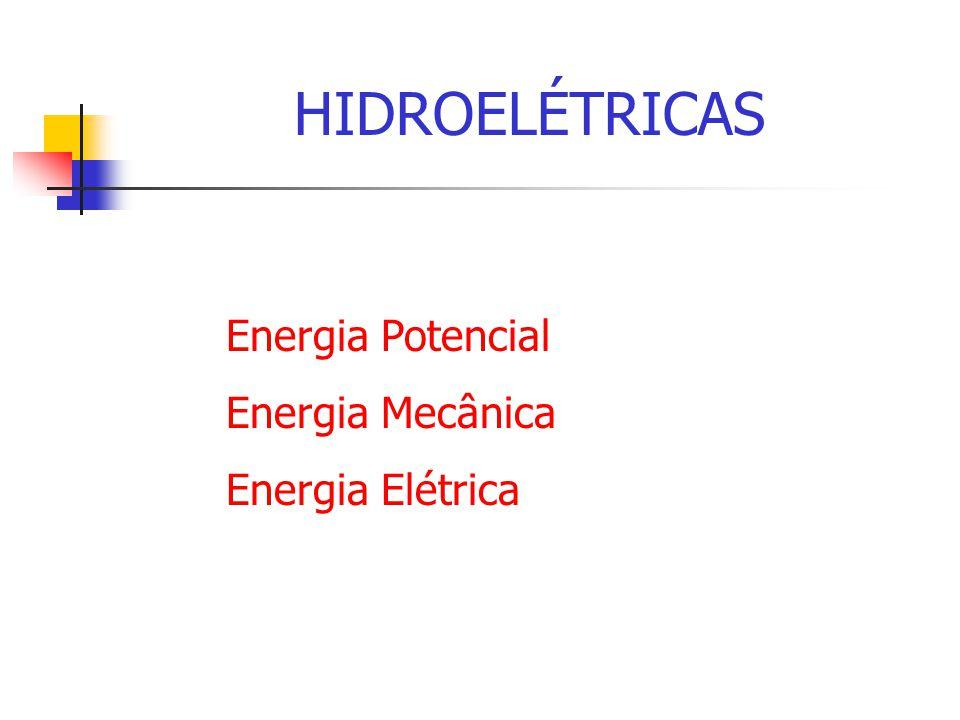 COMPONENTES DE HIDROELÉTRICA Barragem Tomada DÁgua Casa de Força Subestação Gerador (rotor e estator) Regulador de Tensão Regulador de Velocidade Componentes Auxiliares
