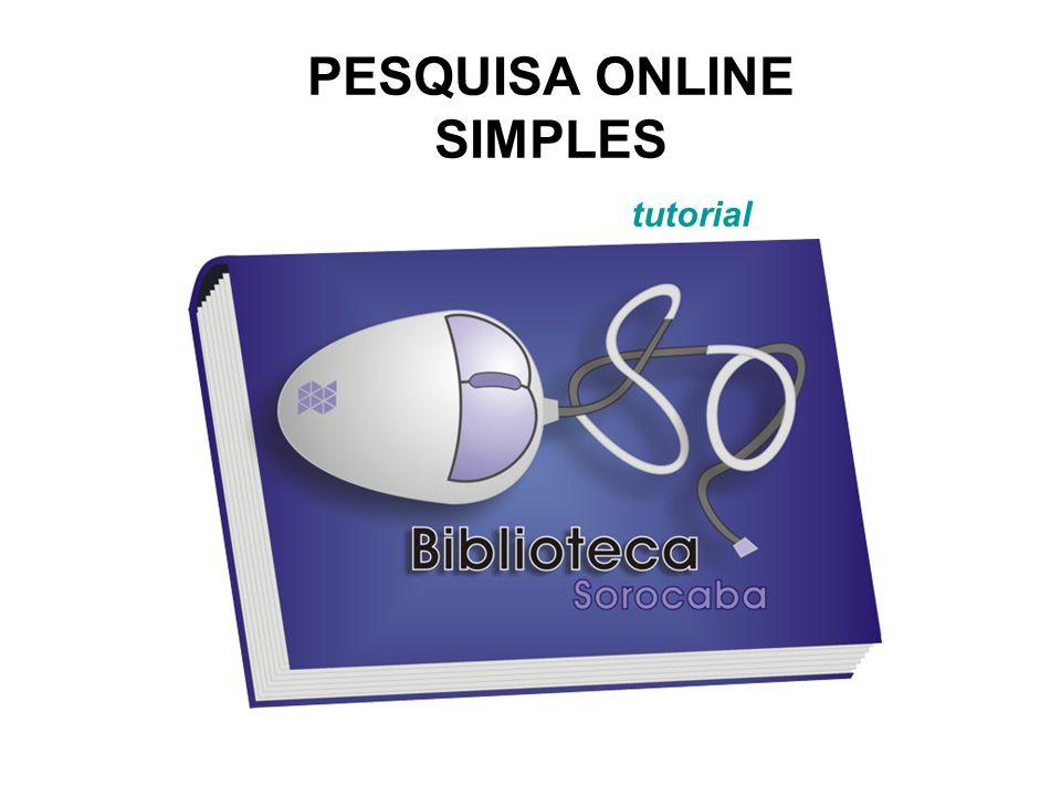 PESQUISA ONLINE SIMPLES tutorial