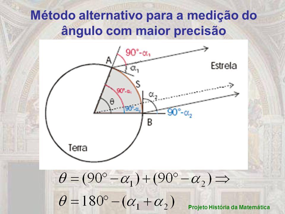 Método alternativo para a medição do ângulo com maior precisão Projeto História da Matemática