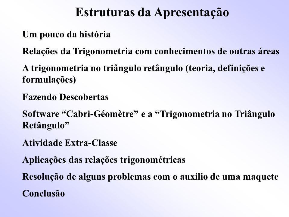 Um pouco da história Embora a origem da Trigonometria é incerta, sabe-se que é anterior a era Cristã.