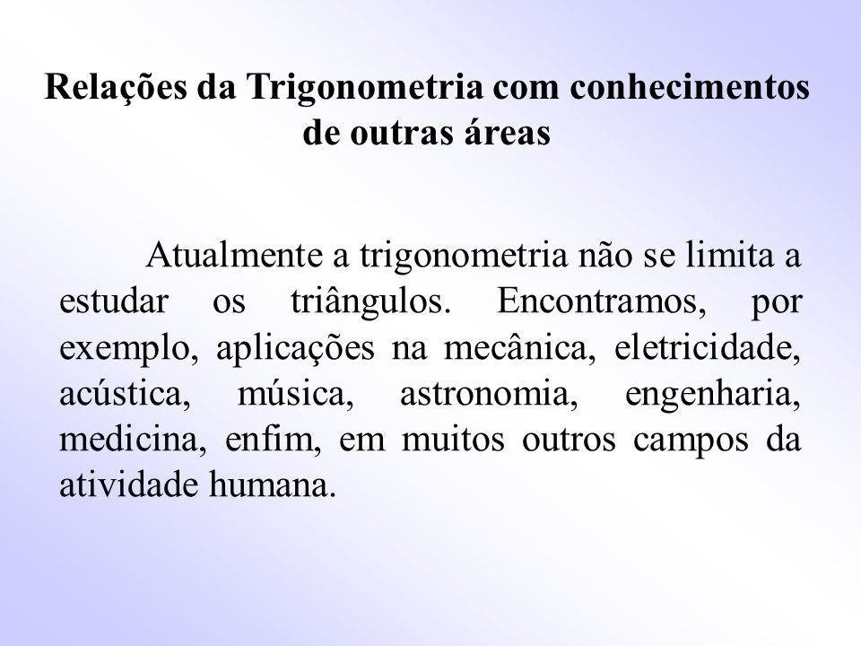 A trigonometria no triângulo retângulo Triângulo retângulo é qualquer triângulo que possua um ângulo reto.